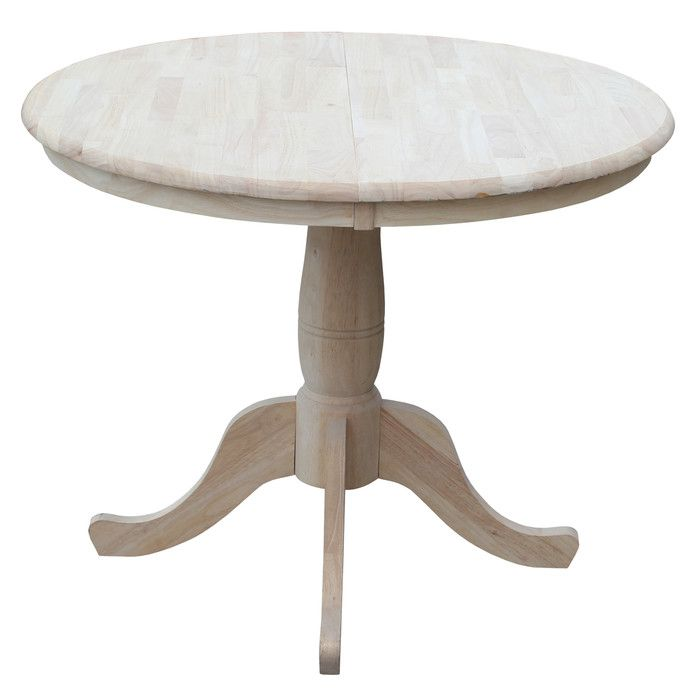 "August Grove 36"" Extendable Round Pedestal Dining Table & Reviews   Wayfair"