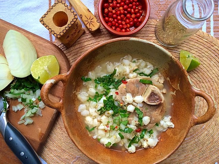 Pozole Blanco (White Hominy Stew with Pork) | Mexican Food Memories