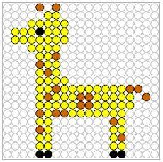 Kralenplank dierentuin giraffe