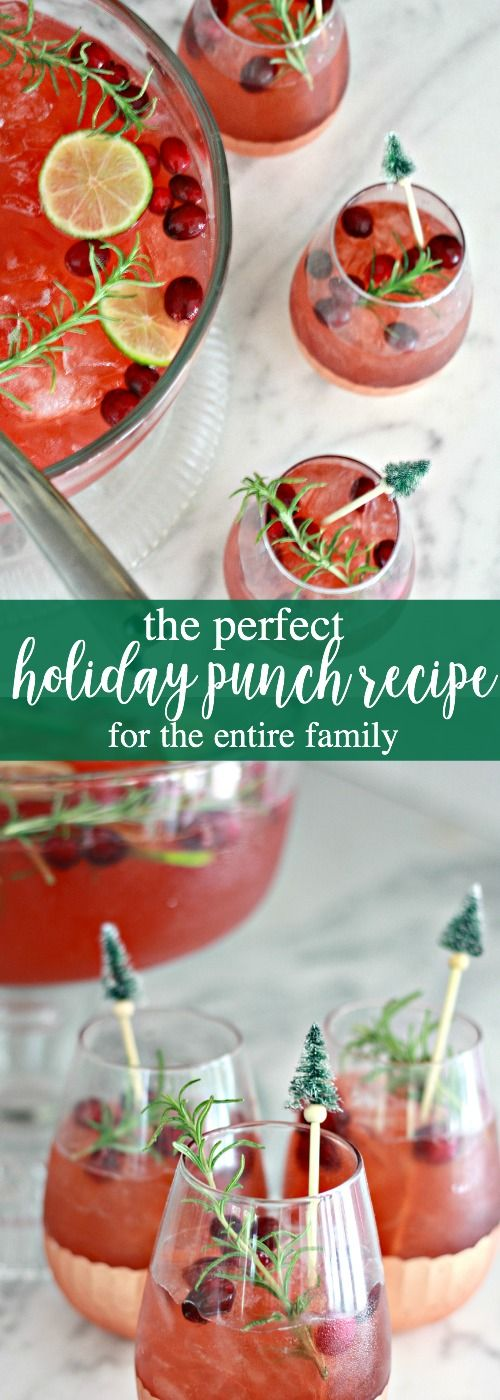 The Perfect Holiday Punch Recipe for the Entire Family