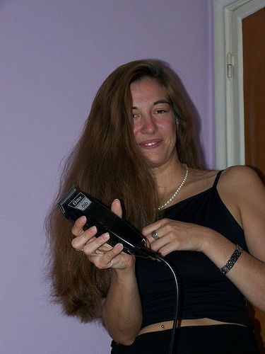 shave my head please   long hair shearing   Pinterest