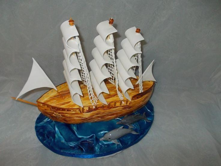 """Торт """"Корабль"""" #торт_на_заказ_мариуполь #день_рождения"""
