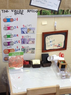 Banking Hours? Dramatic Play in K! A new post about changing our dramatic play area into a bank....please check it out and tell me what you are doing in your programs!