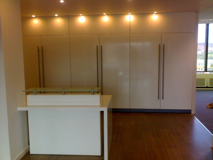 Architects Practice Sheffield city centre, bespoke counter and fitted storage