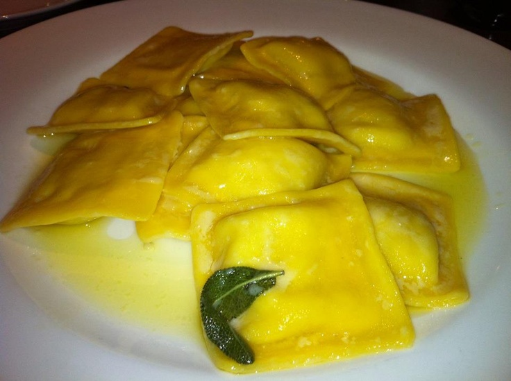Lunch at Pinocchio Italian Restaurant in Dublin.....Ravioli filled with seabass. Made to impress!