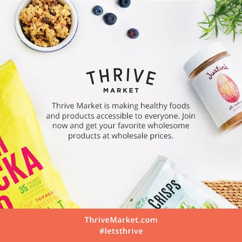 Unlike other big box retailers, Thrive Market offers all the premier natural food brands that you would find at a health food store, in every day sizes, at wholesale prices, delivered conveniently to your doorstep with free national shipping.  #affiliate