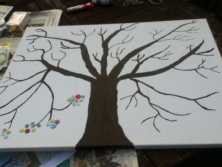 how to make a button tree on canvas