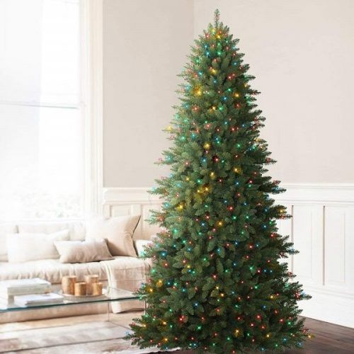 Mountain Fir Pre-lit Artificial Christmas Tree with Multi-Color Lights |  Best Fake Christmas Trees #christmastrees - 15 Best Fake Christmas Trees 2018 That Look REAL Christmas Trees
