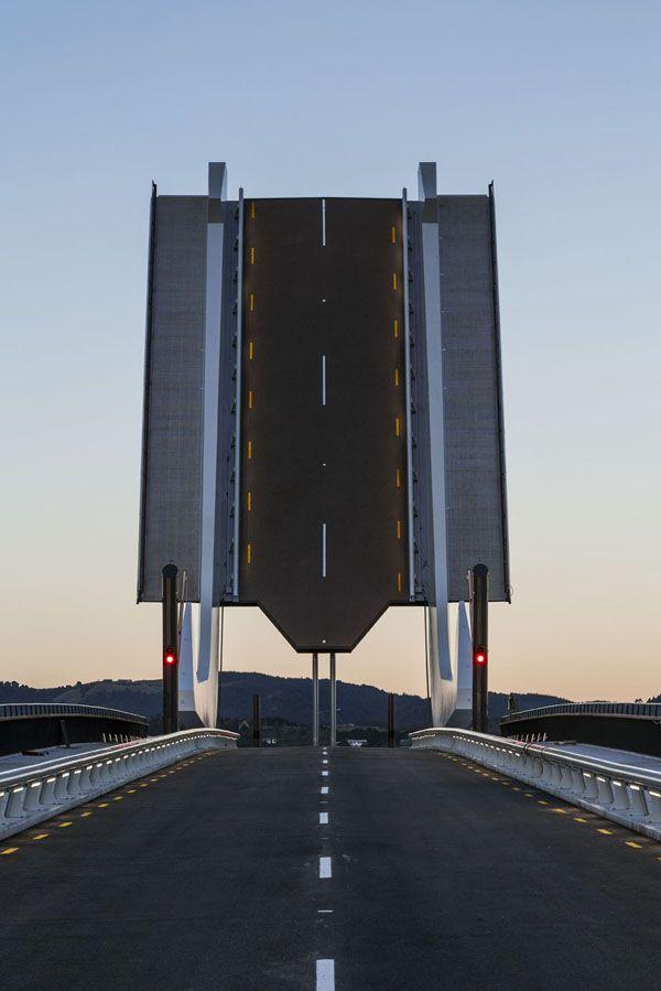 The Lower Hatea River Bridge bascule or Te Matau ā Pohe; Pohe's fish hook. Over the Hatea River, Whangarei, New Zealand, NZ
