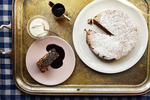 Jeremy Lee's recipe for walnut cake with chocolate sauce | King of puddings | Life and style | The Guardian