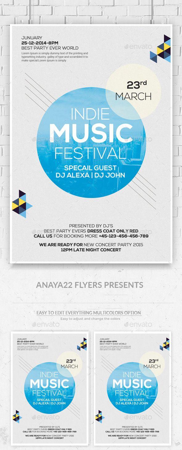 Festival / Concert - Flyer - Clubs & Parties Events