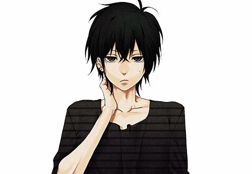 anime boy with black hair anime pinterest eyes