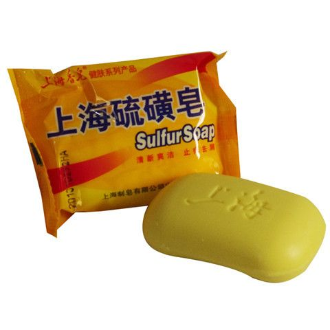 Shanghai Sulfur Soap 4 Skin Conditions Acne Psoriasis Seborrhea Eczema Anti Fungus Perfume Butter Bubble Bath Healthy Soaps 85g