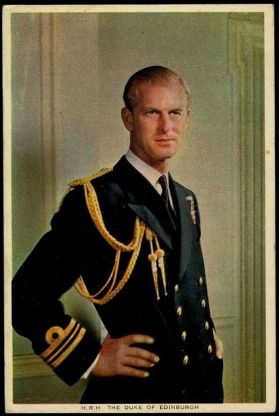 British Monarchist League An early portrait postcard of HRH The Duke of Edinburgh ca. 1950.