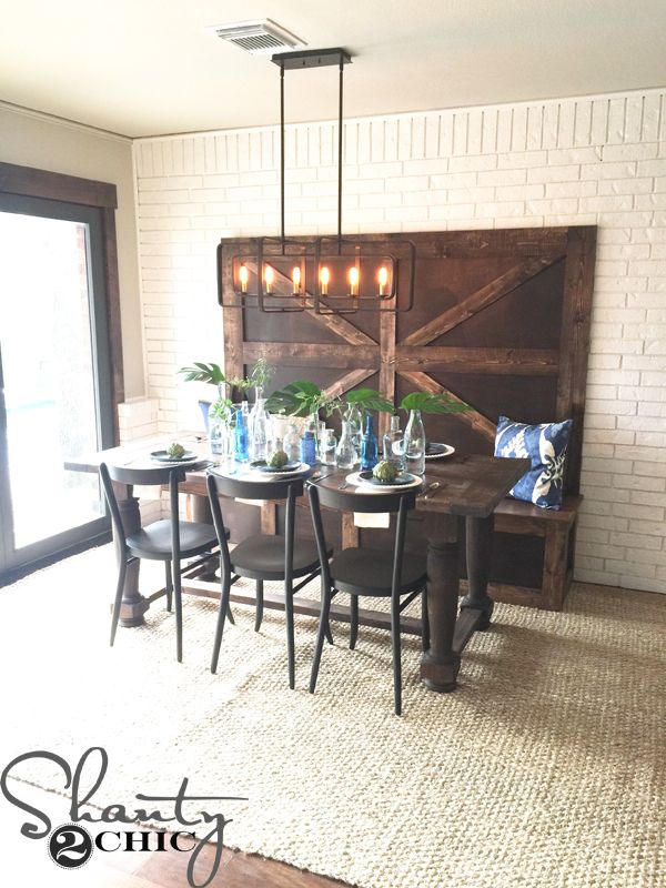 Stupendous Diy High Back Bench Small Kitchen Remodel High Back Ocoug Best Dining Table And Chair Ideas Images Ocougorg