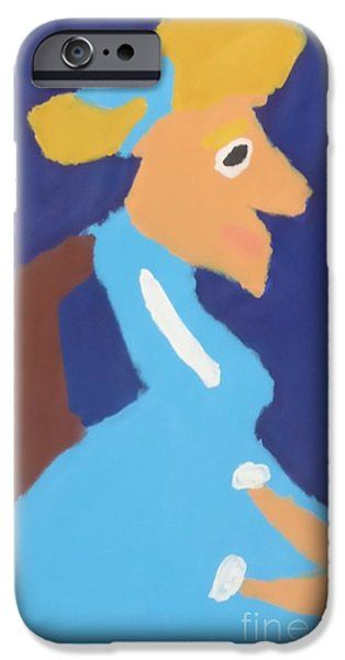 IPhone Case featuring the painting Portrait Of Adeline Ravoux 2014 - After Vincent Van Gogh by Patrick Francis