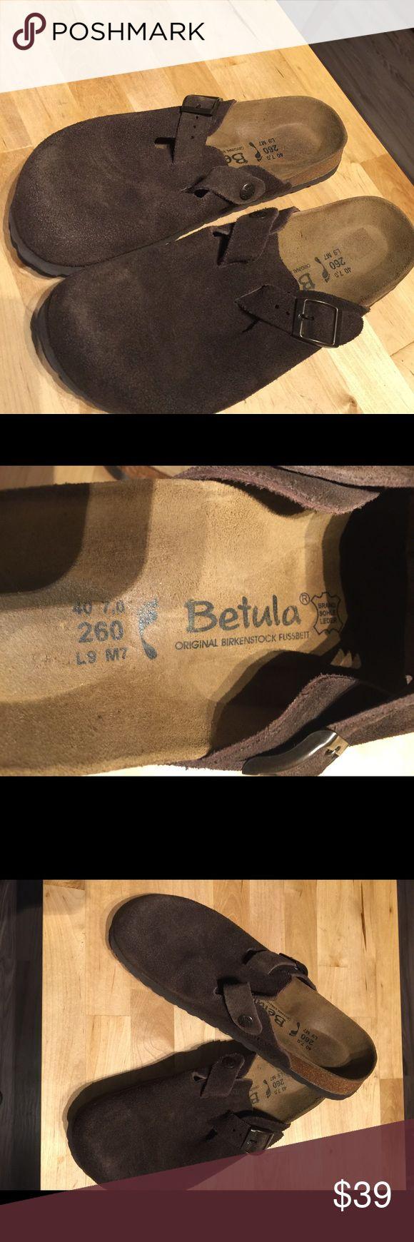 Brand NEW Birkenstock Betula suede sz7 slippers NEW not used Birkenstock slippers in soft suede sz7 Birkenstock Shoes Slippers