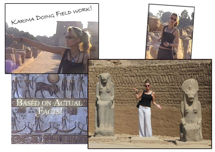 Pictures of me working in Egypt - The Secret of Anubis, The Winter Triangle