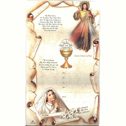 First Communion Invitations Girl - Divine Mercy