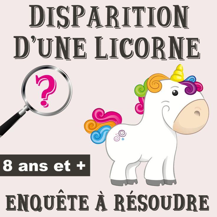 Disparition d'une licorne