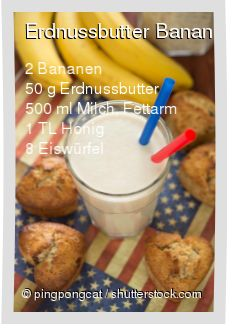 Leckeres Erdnussbutter Bananen Smoothie Rezept mit einfacher Schritt-für-Schritt-Anleitung: Bananen schälen , Alle Zutaten im Mixer pürieren...