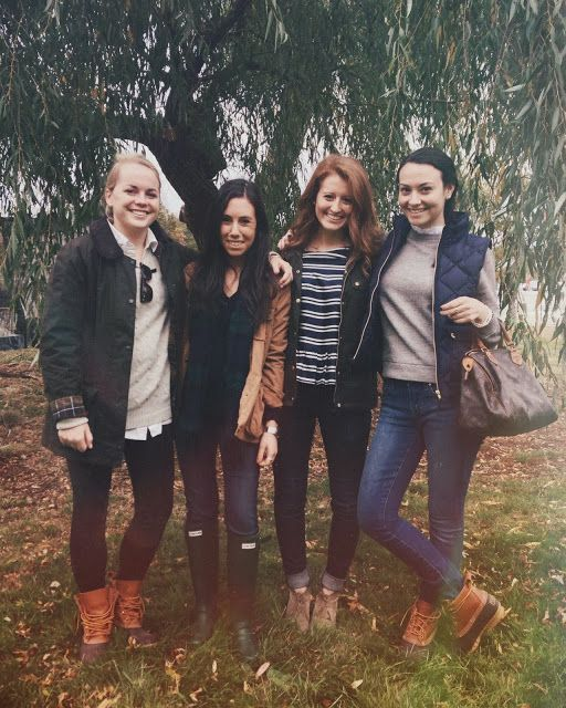head of the charles regatta. bean boots, hunters, vests, Barbour jackets. true preppy outfits