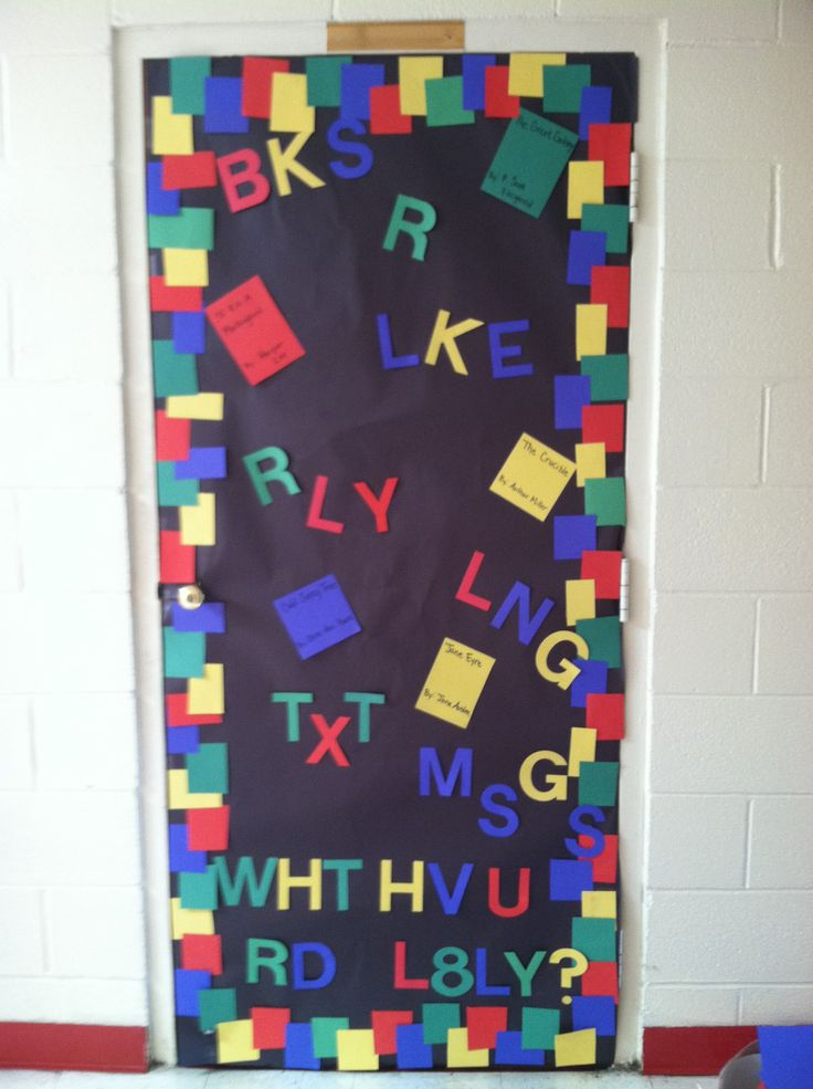 School Classroom Decor Games ~ Door decorating ideas for high school