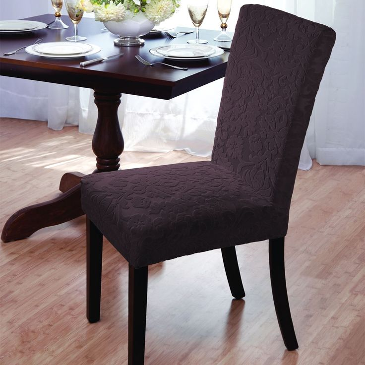 the 25 best dining chair slipcovers ideas on pinterest dining chair covers reupholster. Black Bedroom Furniture Sets. Home Design Ideas