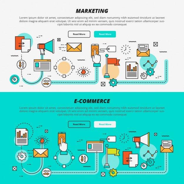 Comercialização plano e e-commerce banners