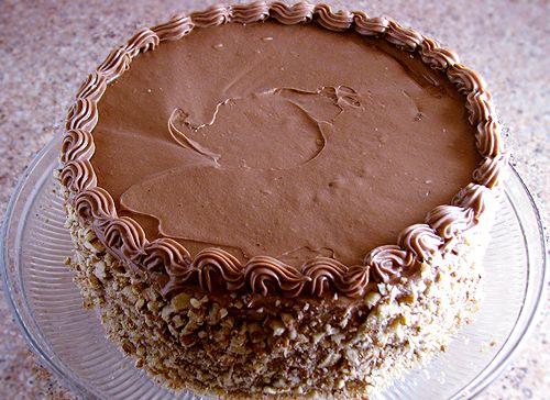 """Chocolate Italian Cream Cake                    - much better than """"plain"""" Italian Cream Cake"""