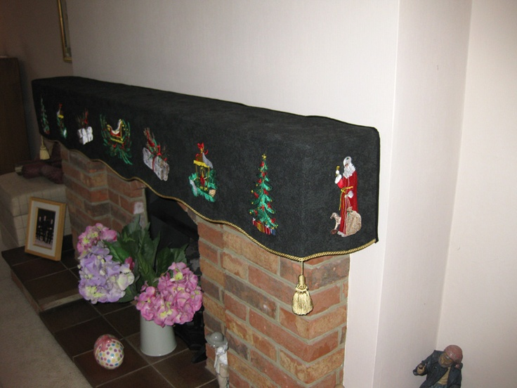 Mantle covering shown from the side