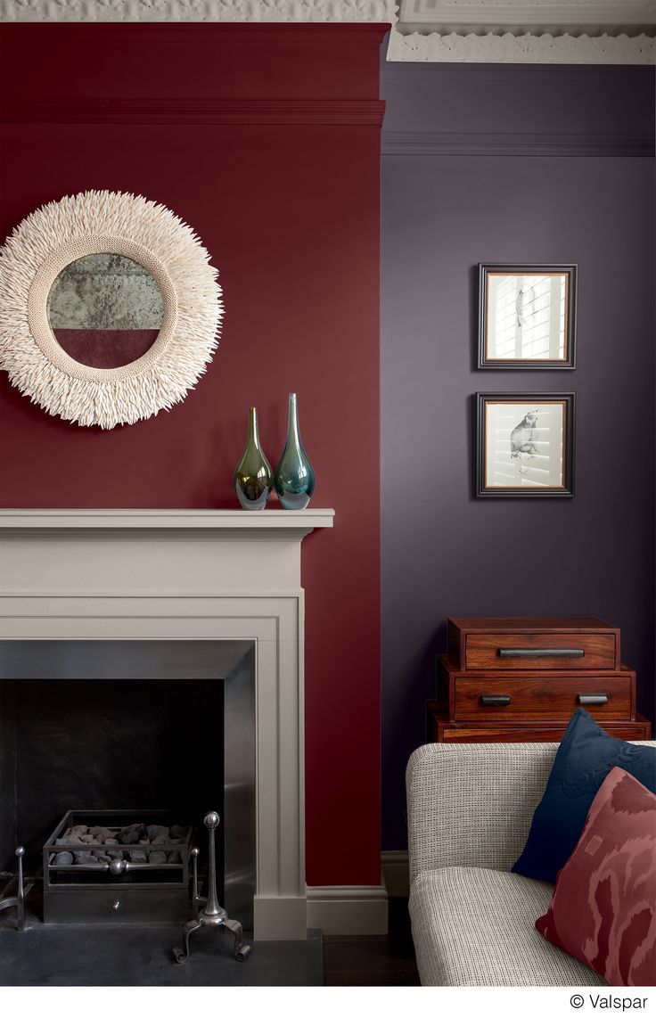 Red Colour Wall: This Mix Of Colors And Textures Makes For A Cozy