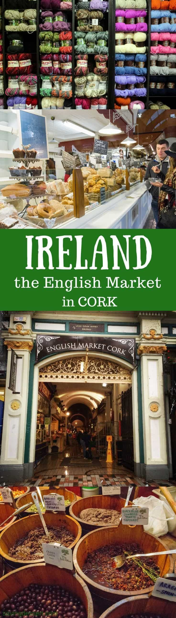 Cork Ireland - The Cork English Market has a fascinating history dating as far back as 1786. That's before the United States had it's first president! The market officially opened in August of 1788 and continues to thrive today. #savingroomfordessert #ireland #cork #theenglishmarketcork #market #travel www.savingdessert.com #irelandtravel