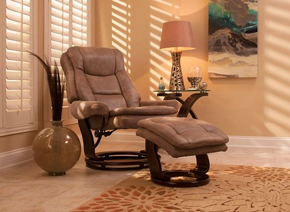Grant Reclining Swivel Chair And Ottoman | Recliners | Raymour And Flanigan  Furniture U0026 Mattresses