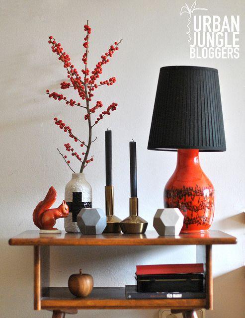 #urbanjunglebloggers | December | Festive Red and Black | bold.color.glass blog