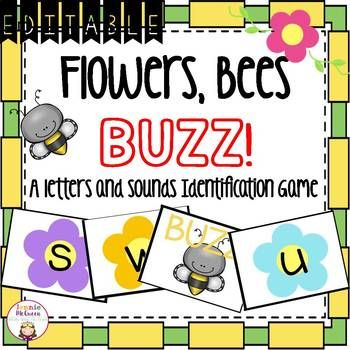 EDITABLE Spring Alphabet Phonics game perfect for practicing letters/beginning sounds! Comes with editable pages to add in your own skills!