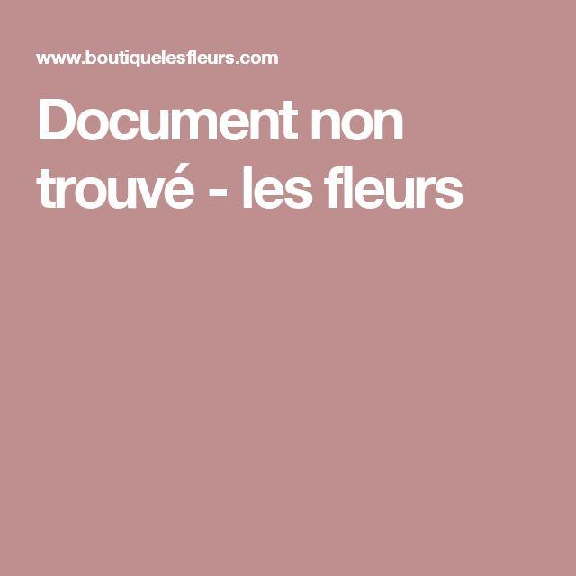 Document non trouvé - les fleurs