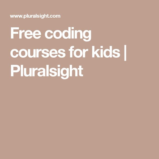 Free coding courses for kids   Pluralsight