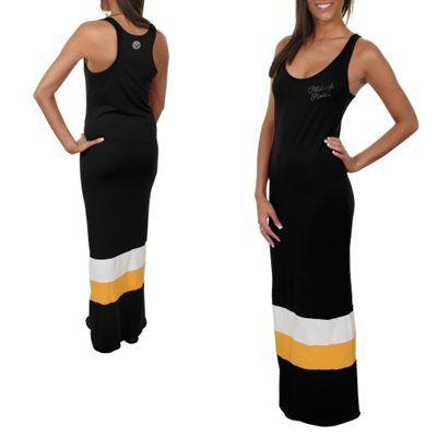 '47 Brand Pittsburgh Steelers Ladies Maxi Dress - Black