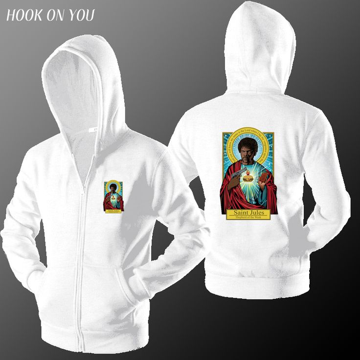 2017 Fashion Hot Brand Pulp Fiction Men Zipper Cardigan Hoodies Saint Jules Printing Man Outerwear Casual Sweatshirt Funny Coats #Affiliate