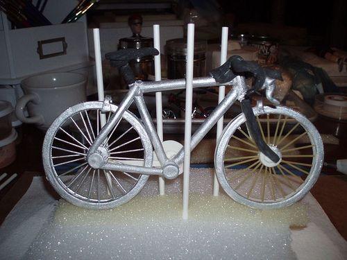 Cannondale bike Cake in progress