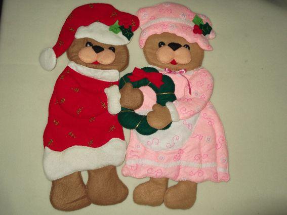 Ositos navideños de fieltro, decorativos navideños, decoración navideña