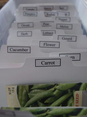 DIY, seed packet storage container