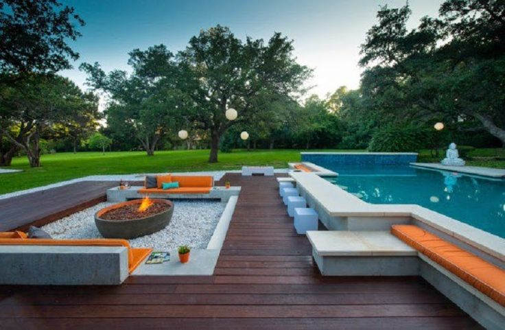 Orange Pool Design Paradise