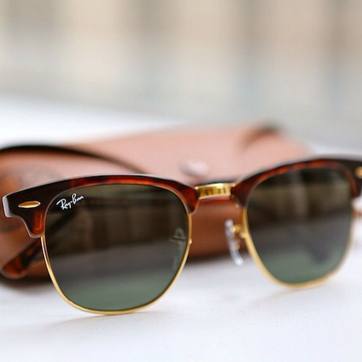 5b57ee611fb Cheap Ray Ban Clubmaster Brown Sunglasses