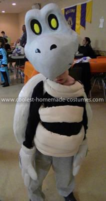 Homemade Dry Bones Costume: What we have here is Dry Bones from the Mario games. Last year right after Halloween, my son decided he wanted to be Dry Bones and he stuck with it all