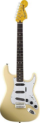 Squier Vintage Modified 70's Stratocaster Electric Guitar, Rosewood fingerboard, Vintage White