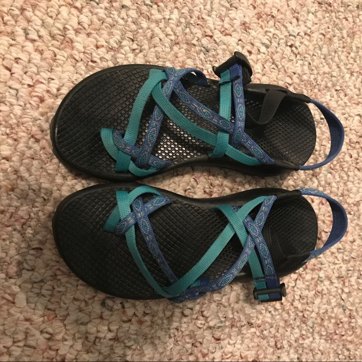 Teal And Royal Blue Chacos For Sale!