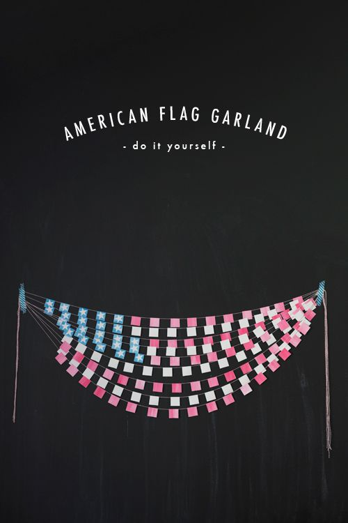 The House That Lars Built.: American flag bunting - this would be cute above the circ desk, could use construction paper or paint sample chips too
