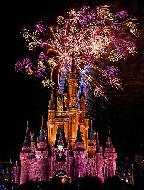 Fireworks over Cinderella Castle, Magic Kingdom, Walt Disney World, FL